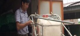 Sáng chế máy phun thước trừ sâu đa năng của thầy giáo Khương