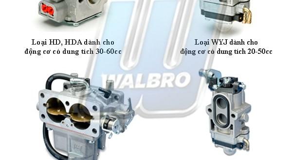 Hãng sản xuất bộ chế hòa khí (bình xăng con) Walbro Mỹ